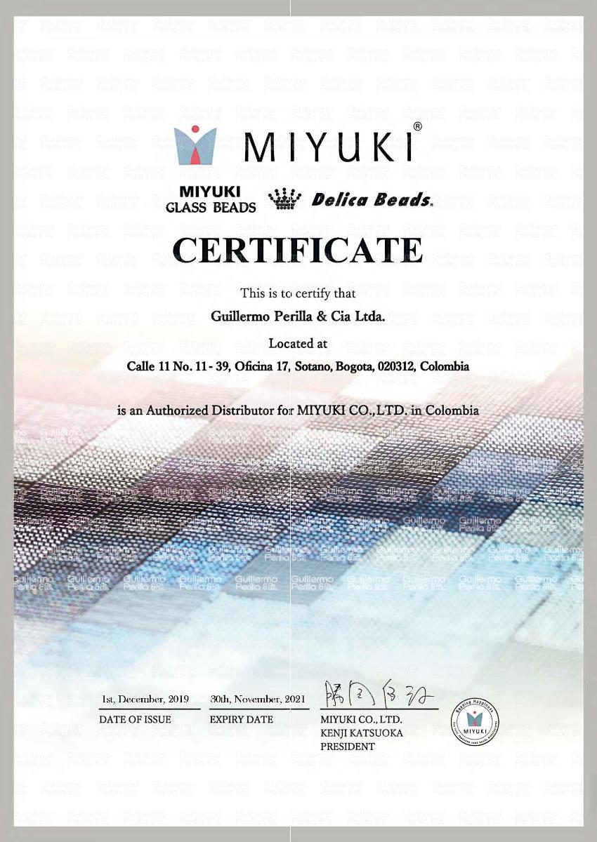certificado miyuki